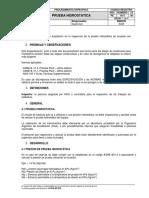 PE-1617 V00 PRUEBA HIDROSTATICA