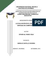 - Monografía - La evaluación por competencias - Efrain Pando