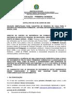 Convocação - Envio de documentos - 1ª chamada - Edital 63-2020 .pdf