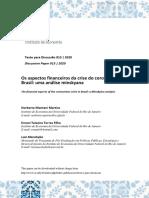 os aspectos financeiros da crise do coronavirus no Brasil