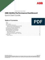 ABB Ability Performance Dashboard Quick Start Guide 9AKK107964 Rev B