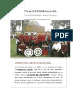 Breve Reseña de los Sikuris en Lima