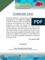 COMUNICADO 17-08-2020