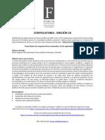 Forum convocatoria especifica agosto de 2020