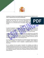 Acuerdo Medidas Organizativas Reincorporación Mayo 2020