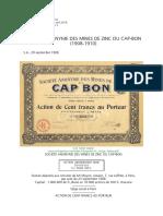 Mines Zinc Cap-Bon