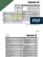PRENSA All New Mazda5 Ficha Tecnica