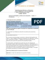 Guia de actividades y Rúbrica de evaluación - Tarea 1 - Presaberes programacion lineal