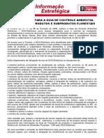 NOVAS REGRAS PARA A GUIA DE CONTROLE AMBIENTAL ELETRÔNICA .