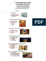 ACTIVIDADES SOBRE EL CRISTIANISMO