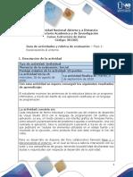 Guia de actividades y Rúbrica de evaluación - Fase 1 - Reconociendo el entorno