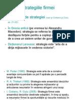 Strategiile firmei