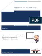 MANAGEMENT STRATEGY FOR PERFORMANCE