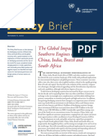 UN-WIDER - The Global Impact of the Southern Engines of Growth - China, India, Brazil and South Africa [Policy Brief 10-06]