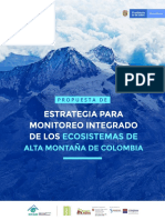 ESTRATEGIA MONITOREO INTEGRADO ECOSISTEMAS ALTOANDINOS (EMA)
