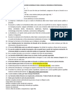 INDICACIONES GENERALES PARA EL PROCEDIMIENTO DE RESIDENCIAS 2020-2