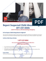 Reporting Child Abuse to DCS