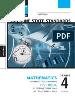 math grade 4 FCAT released test 2005