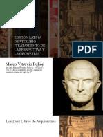 WALTER RIVIUS  TRATAMIENTO DE LA PERSPECTIVA Y LA GEOMETRÍA - VITRUVIO