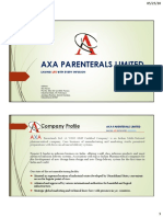 AXA PARENTERAL LIMITED - Brochure