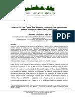 CASTRIOTA, L, B. A QUESTÃO DA TRADIÇÃO Algumas considerações preliminares para se investigar o saber-fazer tradicional.pdf