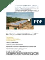 calculos de energía solar universidad