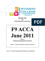 F9 ACCA - Notes you will not forget