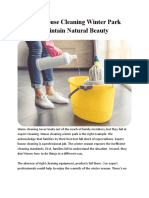 How House Cleaning Winter Park Maintain Natural Beauty