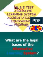 ALS A & E Test