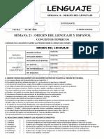 021 ORIGEN DEL LENGUAJE Y ESPAÑOL