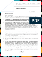 GV Campus Ambassaor - Appointment Letter