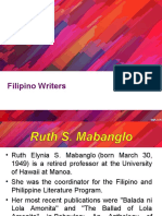 Filipino Writers