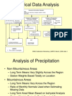 Analysis of precipitation