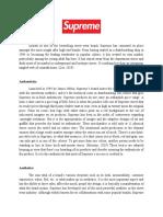 Supreme Brand Analysis