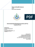 Solution-3671 Environmental Planning & Practice- Assign 2