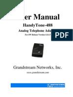 Grandstream 488 Manual