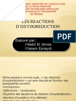 les reaction oxydo reduction