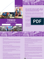 Tesco Application Form 2 Updated