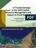 Reuse of Treated Sewage Water in the UAE Capital