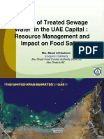 Reuse of Treated Sewage Water in the UAE Capital