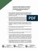 Las preguntas de la interpelación a la ministra de Economia, Maria Antonieta Alva