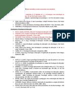Psicologia da Educação (Bibliografia)