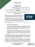 RESOLUCIÓN 2564 RESUELVEN VERIFICACION DE DTOS ADMIN UNIV NACIO