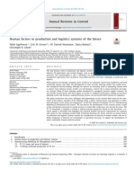 Human factors in production and logistics systems of the future