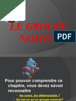 Le groupe nominal