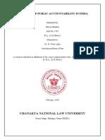 DOCTRINE OF PUBLIC ACCOUNTABILITY IN INDIA