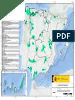 Mapa de Reservas de la Biosfera en España