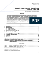Getting Started in C and Assembly Code With the TMS320LF240x DSP