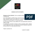 COMUNICATO STAMPA - GIANGIACOMO CIACCIO MONTALTO