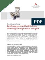 Die Empfehlungsmarketing-Strategie in vier Schritten
